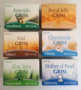 Grisi Soap Combo, Aloe Vera, Chamomile, Oat, Mother Of Pearl, Avocado, Royal Jelly (6 Pack).. HPVagr