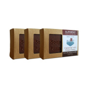 Soap Farm Cabernet (with Grape Seed) SUPERFAT All Natural Soap 3 180ml Bars