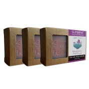 Soap Farm Raspberry-Patchouli SUPERFAT All Natural Soap 3 180ml Bars