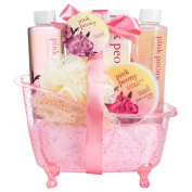 Pink Peony Tub Spa Bath Gift Set