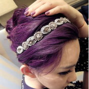2013newestseller Bling Rhinestone Crystal Band Elastic Hairband Headband Lady Women Girls