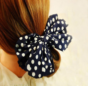 Towallmark 1PC Korean Style Lovely Big Rabbit Ear Bow Headband Ponytail Holder Hair Tie Band