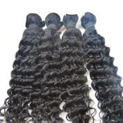 Vedar Beauty 4Pcs/Lot Long Remy Human Hair Weft Indian Hair Deep Wave Weft Size;36cm 41cm 46cm 50cm