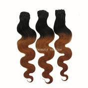 Meiya 60cm Brazilian Hair Weft Dip Dyed Ombre 1B/8# Body Wave 3PCS
