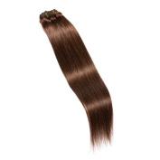 Maria Hair Clip in 100% Human Hair Extensions 41cm Straight #4 Medium Brown