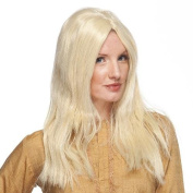 High Quality Unisex Blonde 60's 70's Peace Out Hippie Hippy Synthetic Hair Wig