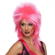 High Quality Hot Pink Punk Spike Rock and Roll Heavy Metal Synthetic Hair Wig