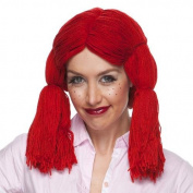 Raggedy Ann By Sepia Costume Wigs,red Yarn