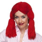 Raggedy Ann By Sepia Costume Wigs,red Yarn