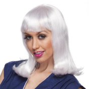 Womens Platinum Peggy Sue Halloween Costume Wig - One Size Fits All