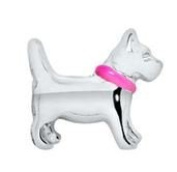 Diva Dangles DOG PINK COLLAR Floating Charm For Glass Lockets