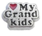 Diva Dangles LOVE MY GRANDKIDS Floating Charm For Glass Lockets