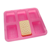 Cross pattern Rectangular Soap Silicone Mould 6-Cavity
