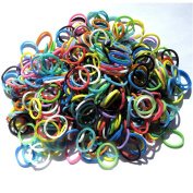 NEW 600 Scented Mix Colours-Solid Loom Rubber Band Refill Pack - 24 C-CLIPS