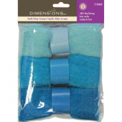 Dimensions Needlecraft 3-Pack Wool Roving, Blue