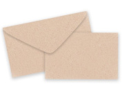 Pack of 25 Sets Plain Kraft Card / Envelopes Gift Enclosure Cards Recycled Made USA