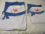 Set of 2 Snowman Fabric Gift Bags
