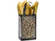 10 Rose Sz Safari Jungle Animal Leopard Zebra Cheetah Frosted Plastic Gift Bags 3 Mil Hd 5-1/4x 3-0.6cm x 22cm