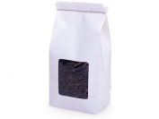 White 0.2kg. Tin Tie Bakery Bag w/ Square Window - 50 Pack