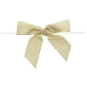 Large Metallic Gold Twist Tie Bow Pack of 100