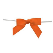 Large Orange Grosgrain Bows