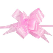 FOREVER YUNG Rose Flower Print Pink Wedding Decoration Gift Wrap Pull Bow Ribbons 20 pcs