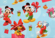 Disney's Mickey Mouse, Pluto and Donald Duck Christmas Wrapping Paper Gift Wrap Roll - 3.7sqm - Officially Licenced - Brand New - #W14-4103