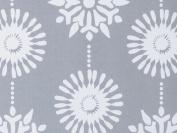 Silver Snowflakes Gift Wrap Flat Sheet 60cm X 1.8m