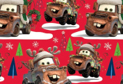Disney's Cars Mater Christmas Wrapping Paper Gift Wrap Roll - 3.7sqm - Officially Licenced - Brand New - W14-4104