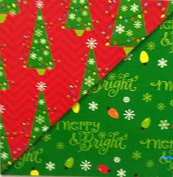 Huge Roll ~ MERRY & BRIGHT ~ Reversible Christmas Wrap ~ 35sqm!
