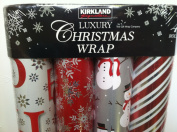 Kirkland Signature Luxury Christmas Wrap 4 rolls 17sqm Total
