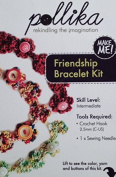 Pollika Crochet Friendship Bracelet Kit - Purple Overdyed Pearl Cotton