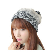 Dealzip Inc® Fashion and Lovely Braided Style Women Lady Winter Wool Knitting Beanie Crochet Casual Big Ball Hat Cap-Grey +Gift pattern send randomly