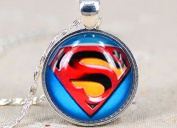 Superman Shield Necklace Super Hero Necklace Yellow and Red Shield Necklace Best Gift to Friend