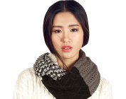 Multi Colour Tribal Style Knit Infinity Circle Winter Cowl Scarf