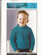 Unisex Kids Cabled Sweater Knitting Pattern - Naturally Kids Connexion K553 - Pattern Only