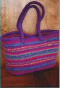 Maggie's Felt Tote Fibre Trends Knitting Pattern AC-55 make 2 sizes