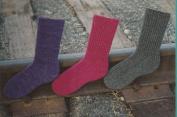 Fibre Trends Railroad Rib Socks Knitting Pattern AC-51