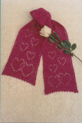 Fibre Trends Falling in Love Scarf Knitting Pattern AC-40