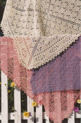 Fibre Trends The Butterfly Garden Scarf, Shawl or Throw Knitting Pattern S-2005