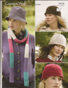 Country Style DK Womens Hat & Scarf Knitting Pattern 8346
