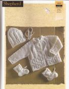 Baby Wool Matinee Set Shepherd Knitting Pattern 1858