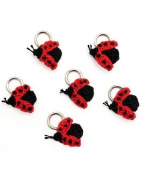 Lantern Moon Set of 6 Stitch Markers Ladybug