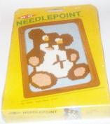 Vintage 1982 MH Yarns Needlepoint Teddy Bear 13cm X 18cm