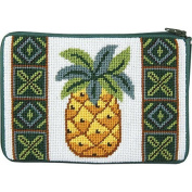 Stitch & Zip Needlepoint Purse/Cosmetic Case-SZ593 Pineapple