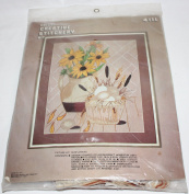 "Vintage 5020cm SUNFLOWERS "" Crewel Creative Stitchery Kit 411L"