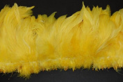 7.6cm Coque Feather Fringe 10cm - 15cm Dyed YELLOW