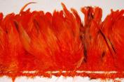 7.6cm Coque Feather Fringe 10cm - 15cm Dyed ORANGE