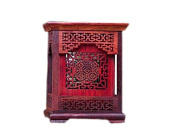 1pc Chinese Writing Brush Pot Red Rosewood Pen Pot Pen Rest
