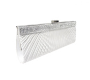 TdZ Classic Radiant Satin with Diamante Frame Party Clutch 25cm w/Strap